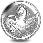 British Virgin Islands: Exquisite design of mythical winged horse Pegasus graces reverse side of new silver bullion coin