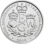 United Kingdom: Regal crown coin celebrates four royal generations of succession
