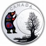 "Canada: ""Thirteen Teachings from Grandmother Moon"" features the awakening of the bear on new silver coin"