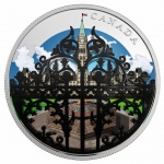 "Canada: New silver and colour coin in ""Gardens in Canada"" series features the sovereign's entrance"