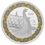 Canada: Second silver coin issued in popular Norse Figureheads series features Leif Eriksson's Dragon's Sail ship