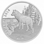"Canada: Final silver coin issued in ""Nature's Impressions"" series features the wolf"