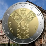Latvia: Commemorative €2 coin celebrating the centenary anniversary of independence released on the 31st January