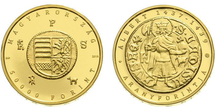 Hungary Copper-Nickel 2000 Forint 2018 BU Gold Forint Florin of King Albert