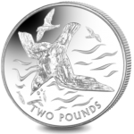 British Antarctic Territory: New titanium coin features graceful blue petrel
