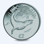 South Georgia & South Sandwich Islands: Leopard seal features on new ice grey titanium coin