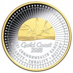 Australia: Definitive silver commemorative coins celebrate Gold Coast XXI Commonwealth Games
