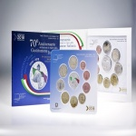 Italy: Brilliant Uncirculated Set launched and includes colour-struck €5 silver coin and commemorative €2