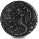 """British Indian Ocean Territory: New mythical creatures series launches with """"The Siren"""" on silver double crown"""