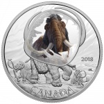"Canada: New ""Frozen in Ice"" innovative silver coin series highlights woolly mammoth"