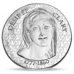 "France: Latest coins issued in popular ""Women of France"" series featuring Désirée Clary"