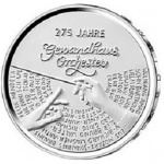 Germany: New silver coin issued in celebration of the 275th anniversary of the Gewandhaus Orchestra of Leipzig