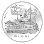 "Switzerland: New silver coin continues the ""Swiss Steamships"" series featuring <em>La Suisse</em>"