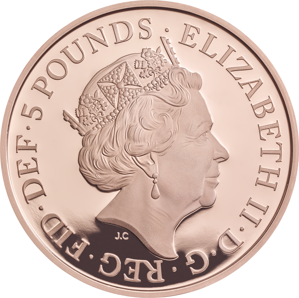 The Royal Birth 2015 United Kingdom 5 Silver Proof Coin: United Kingdom: New Crown Coin Celebrates The Wedding Of