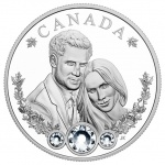 Silver collector coin builds on Canada's best wishes to Prince Harry and Ms. Meghan Markle on their wedding day