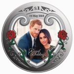 New Zealand: Colourful silver royal wedding coin celebrates Harry and Meghan's big day