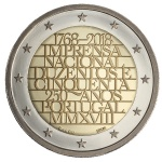 Portugal: Latest commemorative €2 coin issued to mark the 250th anniversary of the National Printing Office