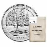 United States Mint bags and rolls of Voyageurs National Park quarters available starting on June 11