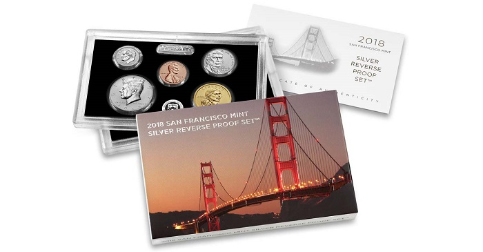 The San Francisco Mint S 2018 Silver Reverse Proof Set To