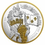 "Canada: Mega-sized silver coin features the unicorn and launches new ""Keepers of Parliament"" series"