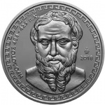 "Greece: Herodotus, the ""Father of History"" features on first silver coin launching new ""Greek Historians"" series"