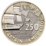 United Kingdom: New coin series celebrates the 250th anniversary of Captain James Cook's voyage of discovery