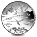 Ascension: First titanium crown coin features the island's endemic shrimp