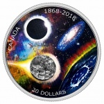 Canada: Latest silver coin celebrates RASC anniversary and includes a real meteorite fragment integrated into design