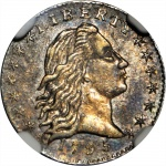 Mint State 1795 Flowing Hair half dime featured in June 2018 Baltimore Auction