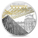 France: UNESCO sites, Banks of the Seine gold and silver coins feature the Louvre and Pont des Arts