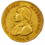1792 gold piece that jingled in George Washington's pocket makes first public appearance since 1890