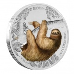 "Nicaragua: Second coin issued in popular ""Wildlife of Nicaragua"" series features three-toed sloth"