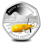 British Antarctic Territory: First 50-pence coin features novel name of underwater research vessel