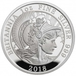 United Kingdom: New 2018 Britannia Proof quality coins feature classical depiction of iconic allegorical figure