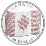 Canada: National anthem and flag are featured together on latest silver Proof and colour coins