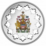 Canada: New double crown silver coin features unique cut-out maple-leaf shapes in design