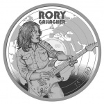 "Ireland: New silver Proof coin honouring Rory Gallagher launches ""Modern Irish Musicians"" series"