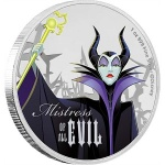 "Niue: Second silver coin issued in eye-catching ""Disney Villains"" series features diabolical Maleficent"