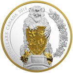 "Canada: Second release in mega-coin series entitled ""Keepers of Parliament"" features the beaver"