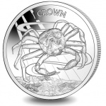 Falkland Islands: New titanium collector crown coins feature the crab