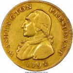 The 1792 gold piece that might have once jingled in George Washington's pocket sold for $1.74 million in Philadelphia