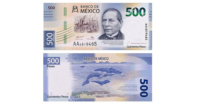 The Banco De Mexico Has Introduced 28th August New 500 Peso Banknotes Into Circulation That Launch A Series Of Currency Notes And Initiate Three