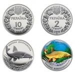 "Ukraine: Third coin in annual ""Flora & Fauna"" series features the Dnieper barbel"