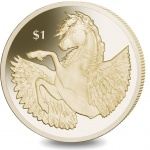 British Virgin Islands: New golden dollar coin highlighting Pegasus is issued