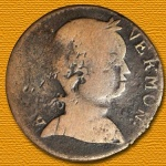 "Rare countermarked 1786 ""Baby Head"" Vermont copper at the Stack's Bowers Official Auction of the Whitman Baltimore Winter Expo"