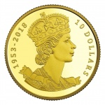 Canada: Fine gold coin issued in remembrance of the coronation anniversary of Queen Elizabeth II