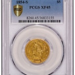 Recently discovered 1854-S $5 now in PCGS holder