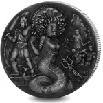British Indian Ocean Territory: Famous Mythical Creatures series continues with fourth double crown silver coin featuring Medusa