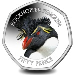 Falkland Islands: The rockhopper bounds onto the last 50-pence colour collector coin in the Penguin series