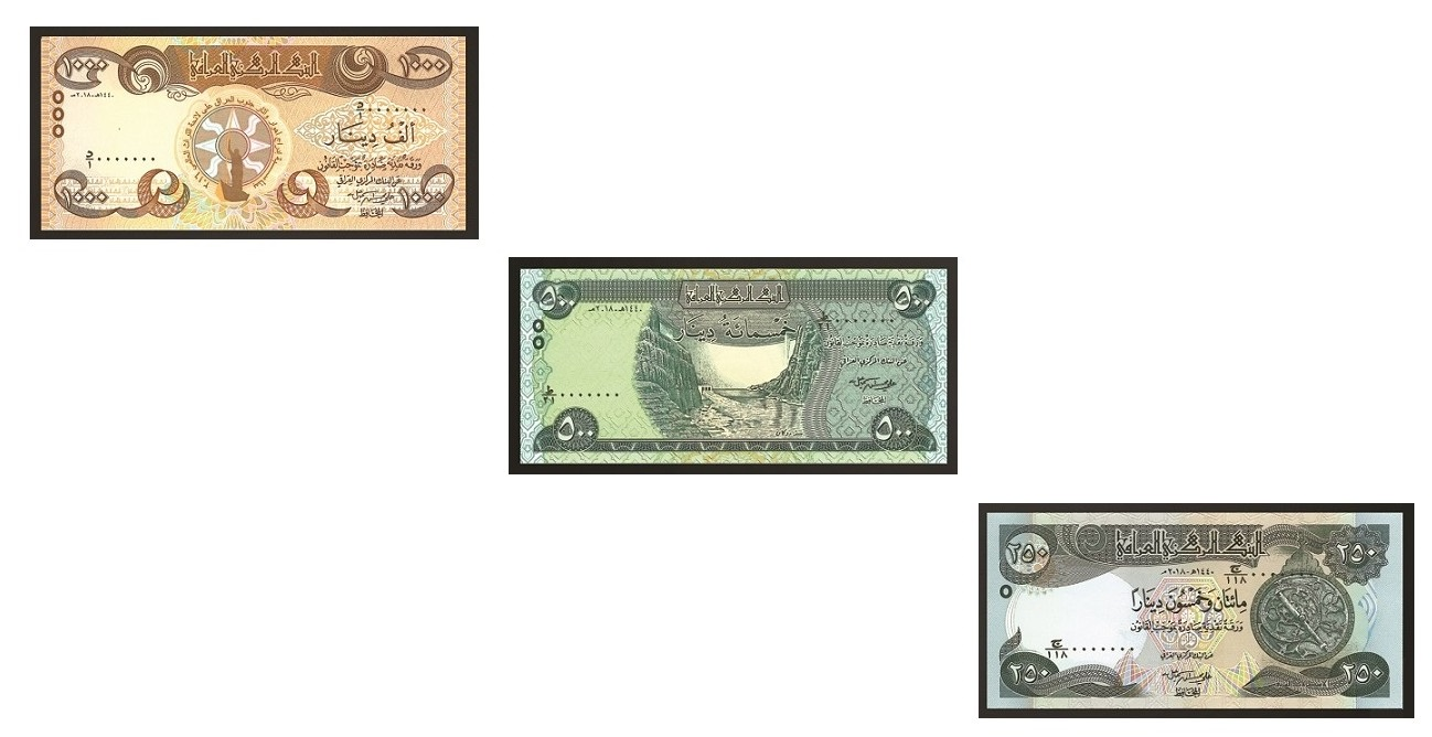 Iraq New And Improved Banknotes Include Design Representing Yrian Community